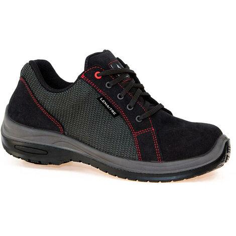 Chaussures de sécurité basses Lemaitre Roller S1P SRC 100% non métallique Noir / Rouge