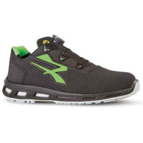 Chaussures de sécurité basses MONSTER BOA S3 ESD SRC - Gris - Vert - RED LION RL20366 - U-Power