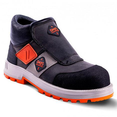 Chaussures de sécurité de soudeurs montantes UNIVULCAIN S3 SRA - Gris et Noir - taille: 48 - couleur: Gris / Noir