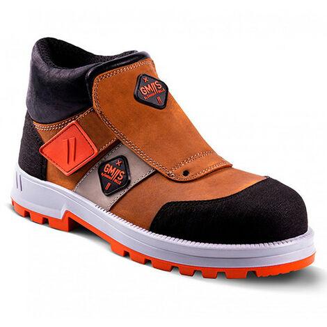 Chaussures de sécurité de soudeurs montantes UNIVULCAIN S3 SRA - Marron