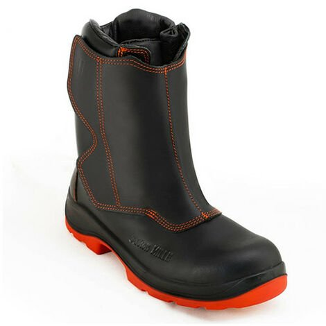 Chaussures de sécurité de soudeurs proctection métatarsale ATNA TOP MilleMeta S3 M HI-3 HRO WG SRC - Noir et Rouge