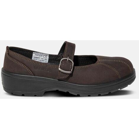 Chaussures de sécurité femme Ballerine DIAMAN marron ou noir S1 SRC