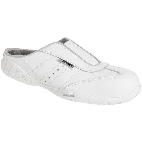 Chaussures de securite femme Paire Blanche Norme SB S1 SRC