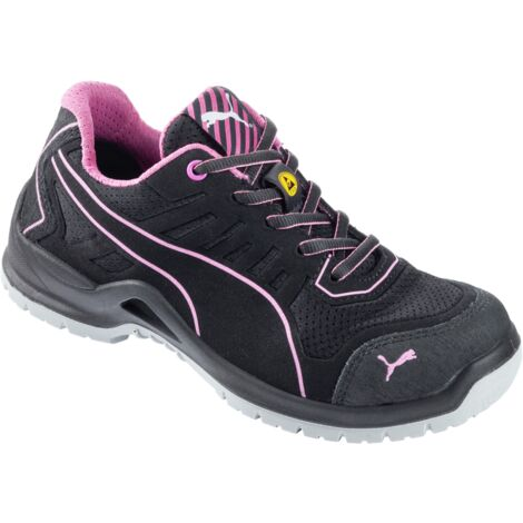 """main image of """"Chaussures de sécurité femme S1P ESD Puma Fuse TC basses noir/rose"""""""