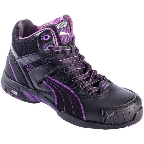Chaussures de sécurité femme S3 SRC Stepper montantes Puma noires/violettes