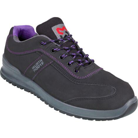 Chaussures de sécurité femmes Carina S3 Würth MODYF noires/violettes