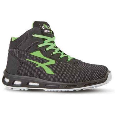 Chaussures de sécurité hautes HARD S3 SRC - Gris - Vert - RED LION RL10356 - U-Power - taille: 43 - couleur: Gris - Vert