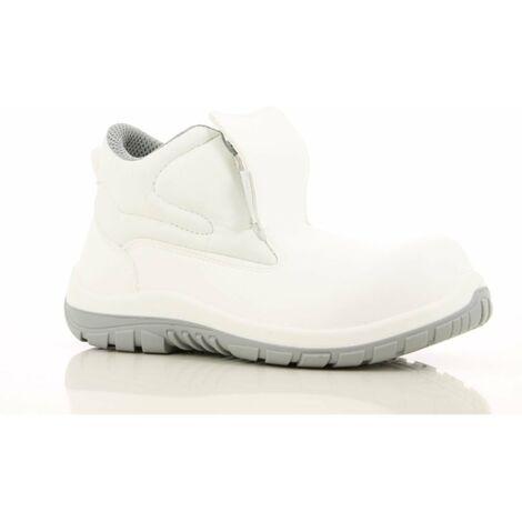 Chaussures de sécurité montantes cuisine / agroalimentaire Maxguard WILSON S2 SRC 100% non métalliques Blanc
