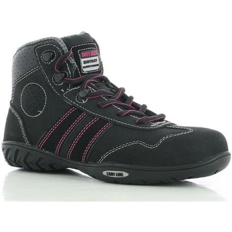 chaussures de sécurité femme s1p esd puma fuse tc basses noir/rose