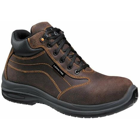 Chaussures de sécurité montantes Lemaitre Falcon S3 CI SRC 100% non métalliques Marron