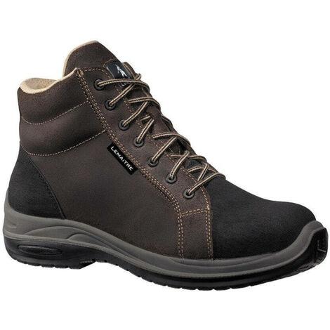 Chaussures de sécurité montantes Lemaitre Milan S3 CI SRC 100% non métalliques Brun