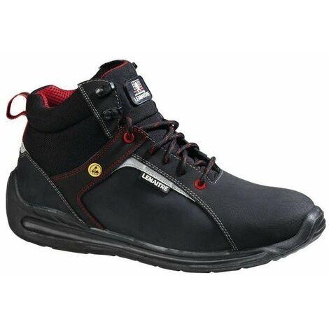 Chaussures de sécurité montantes Lemaitre Super X S3 ESD SRC Noir / Rouge