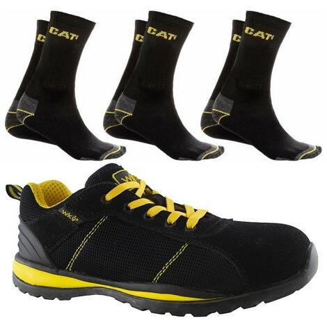 Chaussures de sécurité S1-P Panther + 3 paires de chaussettes CAT - plusieurs modèles disponibles