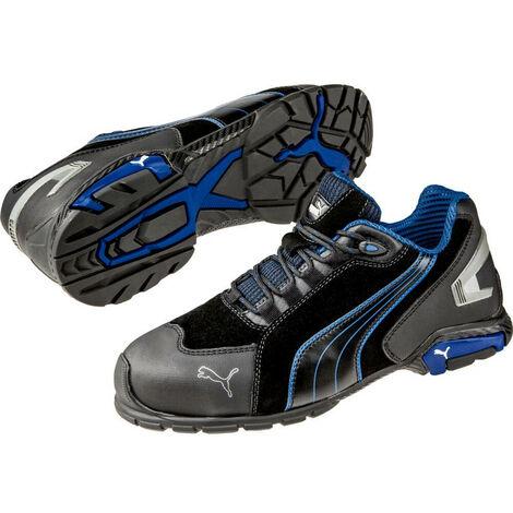 chaussure puma noir bleu