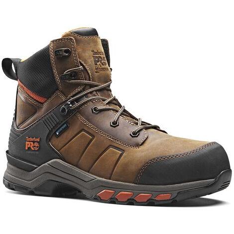 Chaussures de sécurité S3 WR HRO SRC ESD Hypercharge Cuir Timberland Pro brunes
