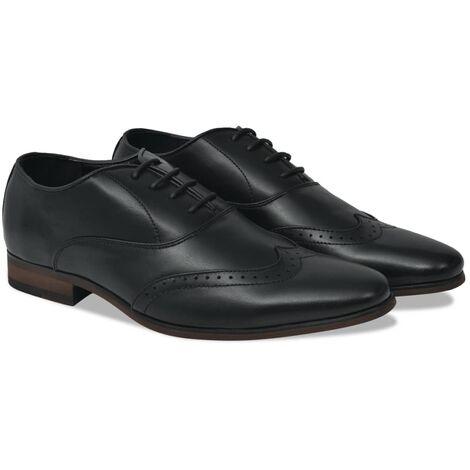 Chaussures richelieu à lacets hommes Noir Pointure 44 Cuir PU