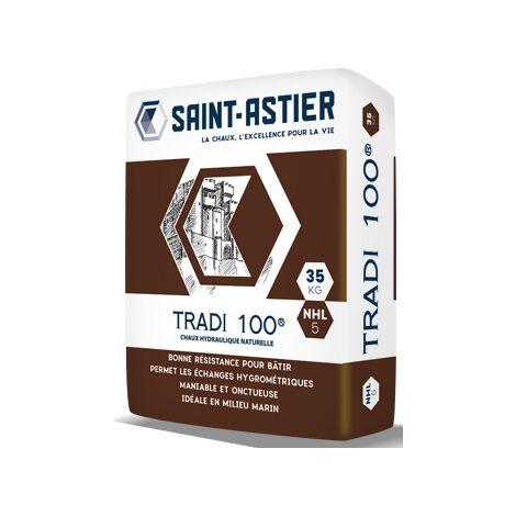 Chaux hydraulique NHL 5 Saint Astier Pure tradi 100 Sac de 35kg | Sac(s) de Kg 0 - Sac de 35kg
