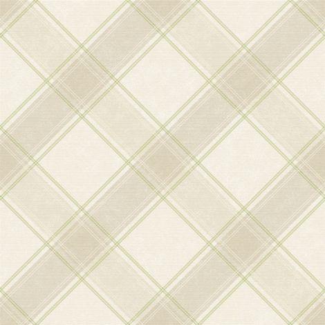 Check Tartan Wallpaper Checked Plaid Chequered Green Beige Holden Decor Aidan