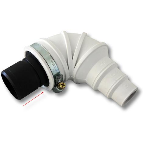 Check Valve DN40 (40 mm) Angle 90° Stepped Hose Piece Hose Clamp