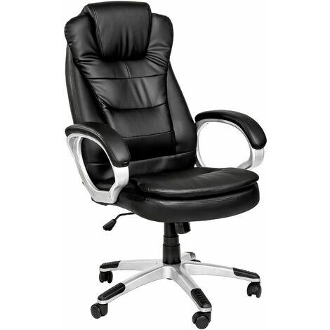 Chefsessel mit doppelter Polsterung - Computerstuhl, Schreibtischstuhl, Chefsessel - schwarz