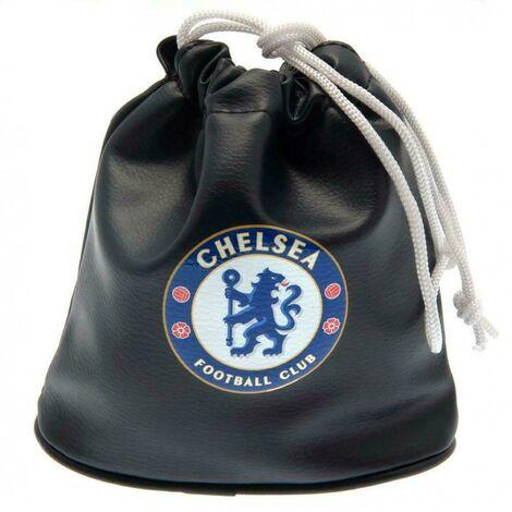 Chelsea FC Golf Drawstring Bag (One Size) (Black)