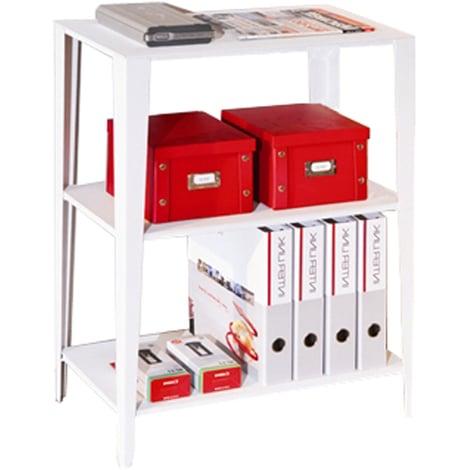 CHELSEA - Metal Two Shelf Storage Unit - White