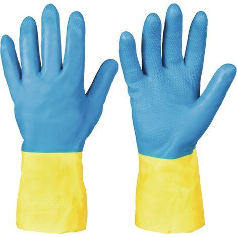 Chemiehandschuh Kenora Gr.7 blau/gelb EN 388,EN 374 Kat.III