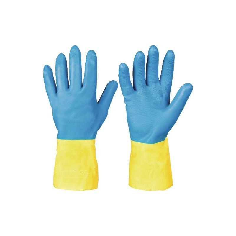 Chemiehandschuh Kenora Gr.9 blau//gelb EN 388,EN 374 Kat.III