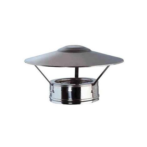 cheminée air ISOLE DN 080/100 chapeau chinois INOX