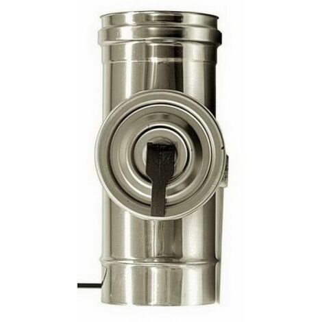 cheminée air ISOLE DN 160/180 élément INSPECTION ROUND INOX