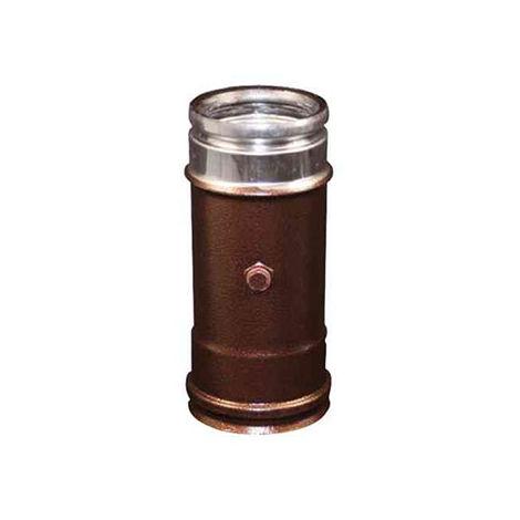 cheminée air ISOLE DN 160/180 fumées arabesqued INOX