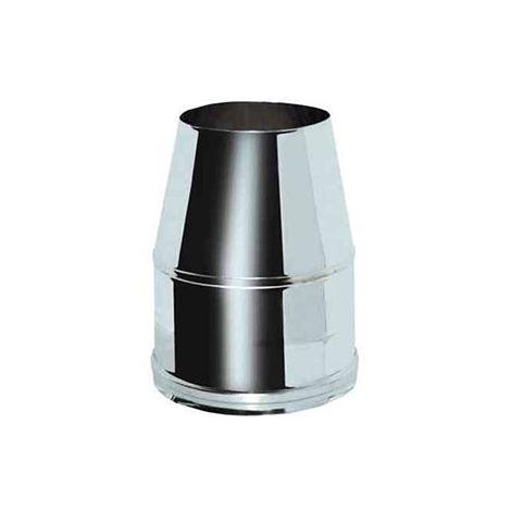 cheminée air ISOLE DN 160/180 HAT TRONC CONIQUE INOX