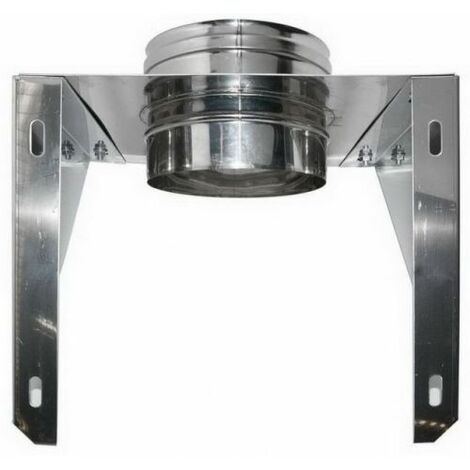 cheminée air ISOLE DN 160/180 OUVERT WALL support DP INOX