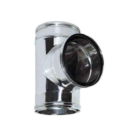 cheminée air ISOLE DN 160/180 RACCORD T 90 ° 80 DP réduite