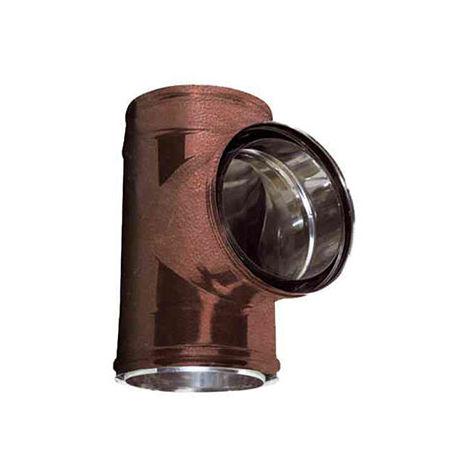 cheminée air ISOLE DN 160/180 RACCORD T 90 ° arabesqued