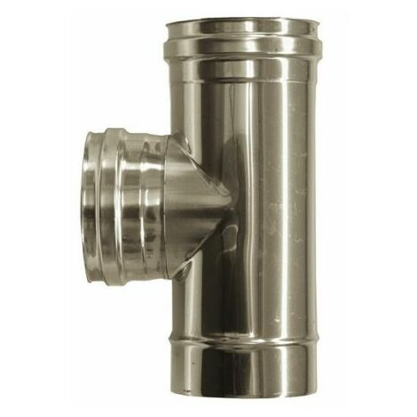 cheminée air ISOLE DN 160/180 RACCORD T 90 ° INOX