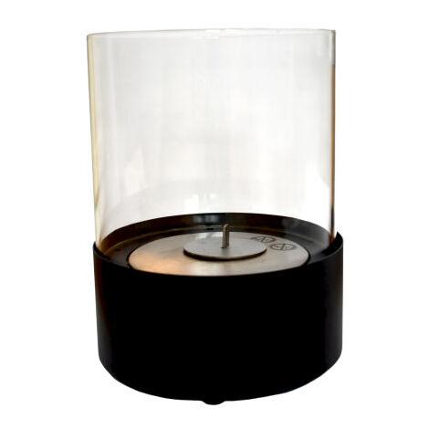 Cheminée au bioéthanol Emma Black cm 27x20,5x20,5 GLOW-FIRE 210203