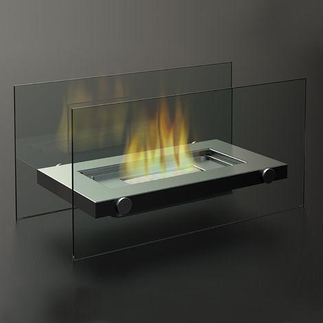 Cheminée au bioéthanol FireFriend DF-6508 – Cheminée de table – Design en acier inoxydable