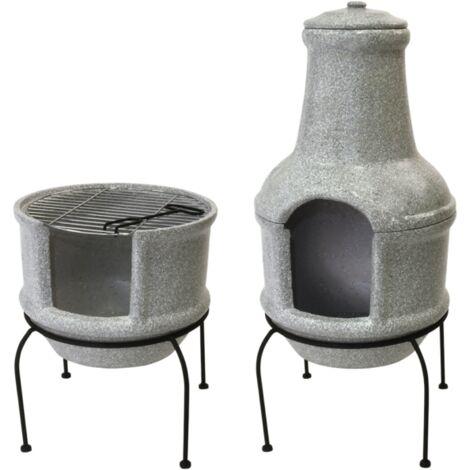Cheminée/barbecue - L 38,5 cm x l 39 cm x H 84 cm - Livraison gratuite