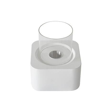 Cheminée bio éthanol de sol contemporaine blanche VPF-OX-011W-Glossy White Blanc brillant