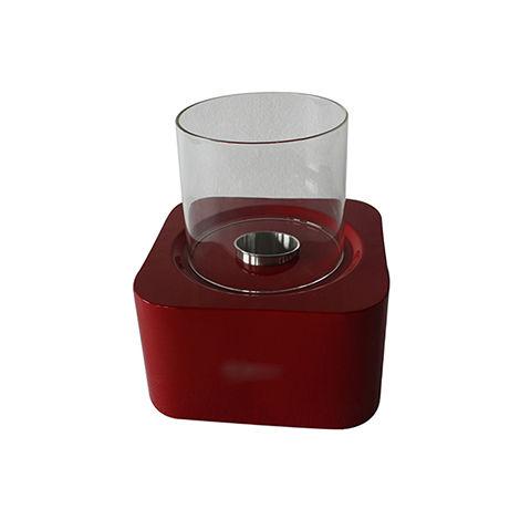 Cheminée bio éthanol de sol contemporaine rouge VPF-OX-011R-Glossy Red 0