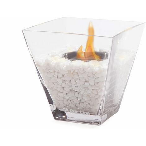 Cheminée bio éthanol de table en verre