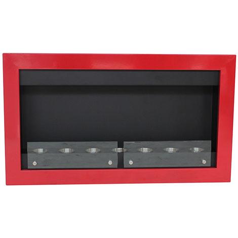 Cheminée bio éthanol murale contemporaine rouge VPF-FD50G-RED Rouge