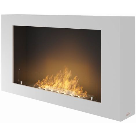 Cheminee bio ethanol murale Murall Blanc cm 100x56x16,5 Sined Fire MURALL WHITE