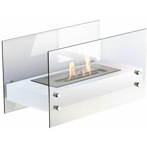 """main image of """"Cheminée biologique de table cm 35x60x30 GLOW-FIRE FALUN-BIANCO"""""""