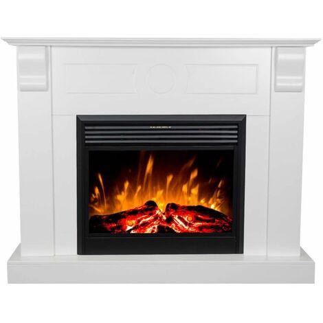 Cheminée Chronos Led blanche cm 101,5x129x29,2 GLOW-FIRE 190116