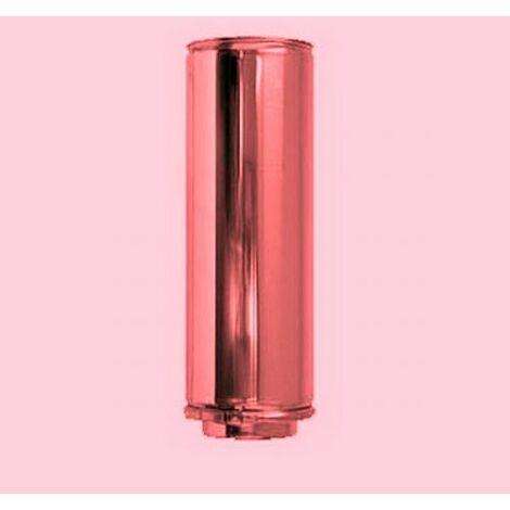 Cheminée de cuivre isolé DN 100/150 élément 500 mm droit