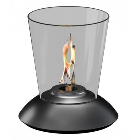 Cheminée de table au bioéthanol 500 W noir design moderne BILBAO