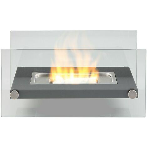Cheminée de Table au Bioéthanol/ Brûleur et Chauffage d'Intérieur/ d'Extérieur - Noir