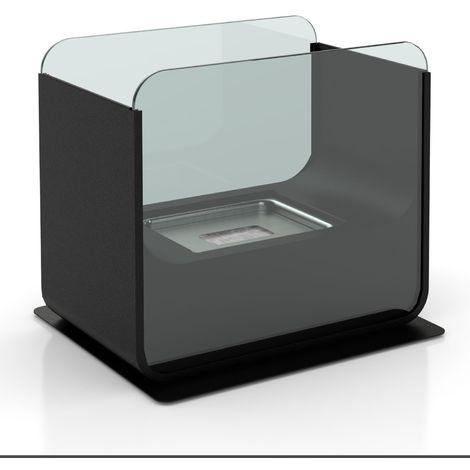 Cheminée de table rectangulaire au Bio-éthanol - 26 x 21 cm - Noir